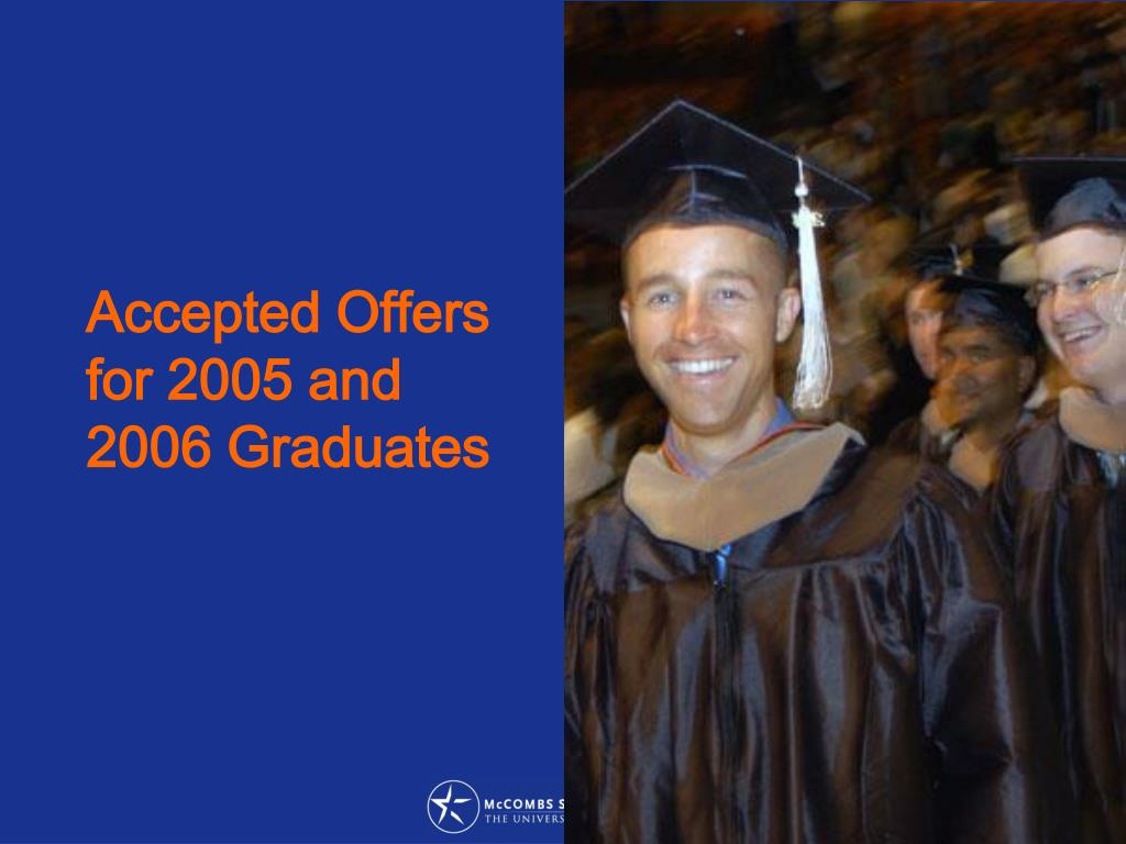 Accepted Offers for 2005 and 2006 Graduates