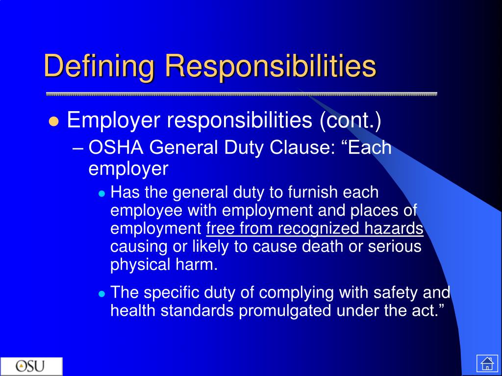 responsibility of employers for acts of