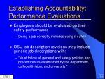 establishing accountability performance evaluations