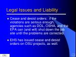 legal issues and liability15