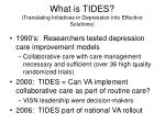 what is tides translating initiatives in depression into effective solutions
