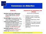 consensus on didactics