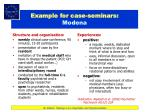 example for case seminars modena