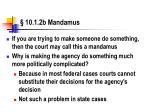 10 1 2b mandamus