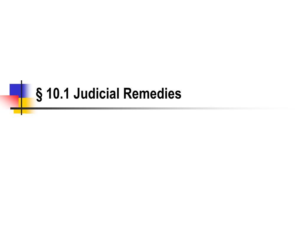 10 1 judicial remedies l.