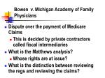 bowen v michigan academy of family physicians