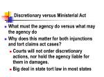 discretionary versus ministerial act