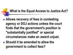 what is the equal access to justice act
