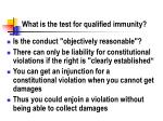 what is the test for qualified immunity