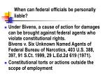 when can federal officials be personally liable