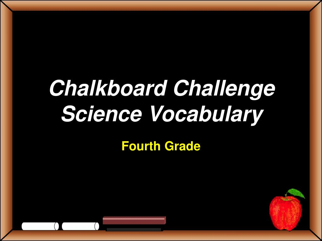 chalkboard challenge science vocabulary l.