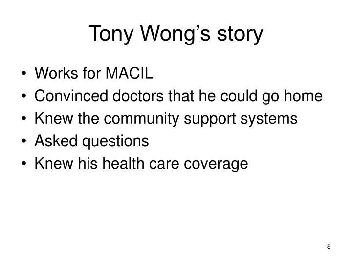 Tony Wong's story