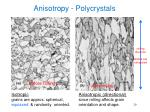 anisotropy polycrystals