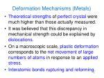 deformation mechanisms metals