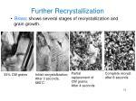 further recrystallization