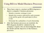 using rea to model business processes