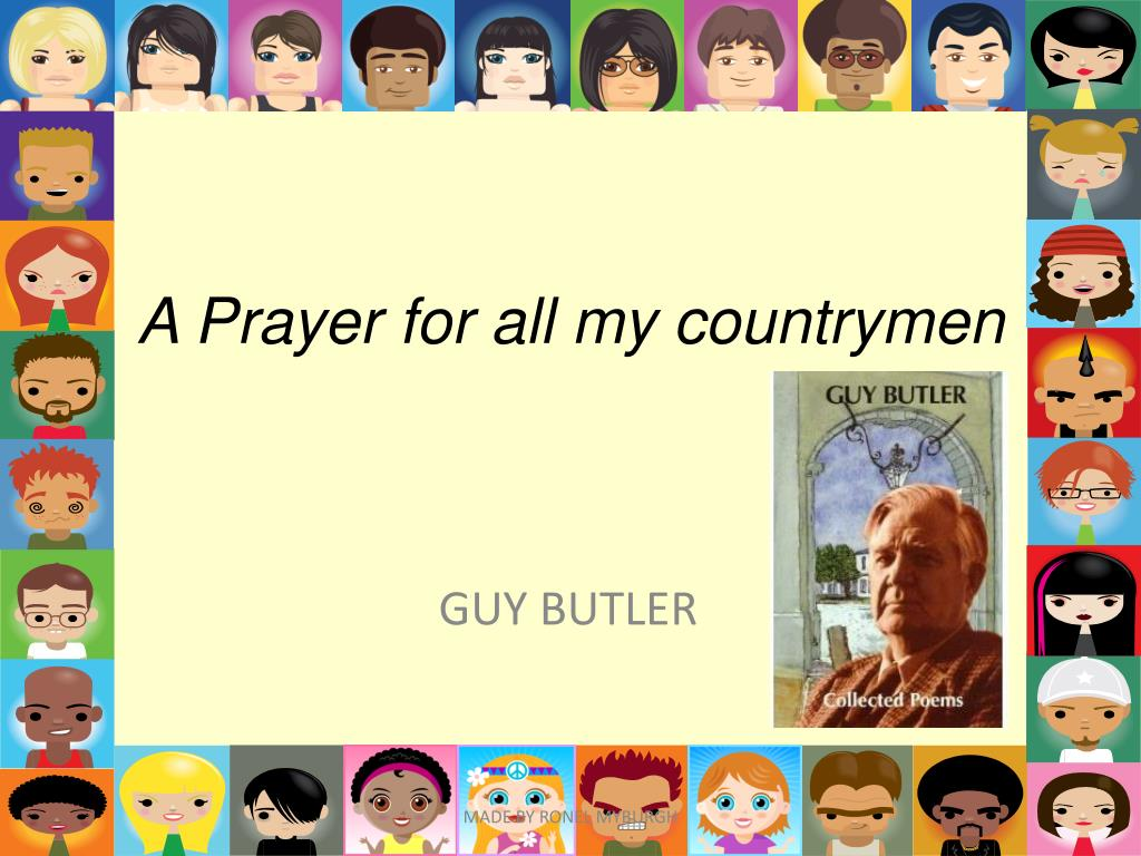 a prayer for all my countrymen l.