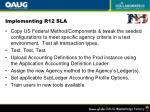 implementing r12 sla