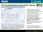 r12 seeded method united states federal
