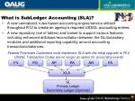 what is subledger accounting sla
