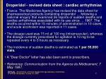 droperidol revised data sheet cardiac arrhythmias