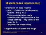 miscellaneous issues cont