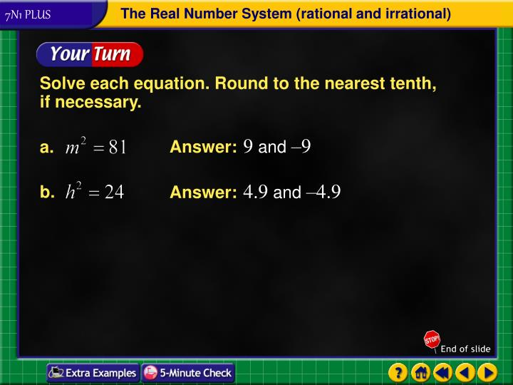 Solve each equation. Round to the nearest tenth,