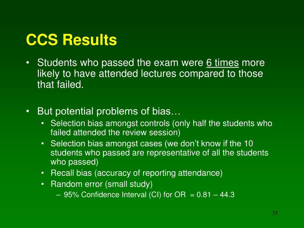 CCS Results