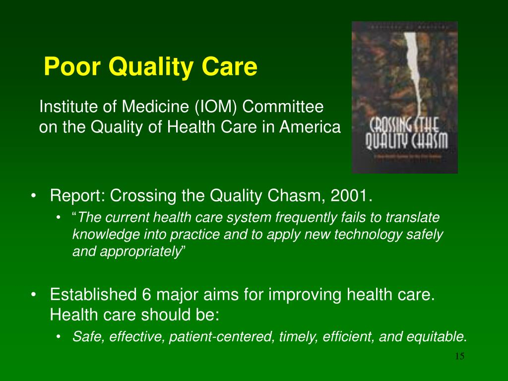 Poor Quality Care