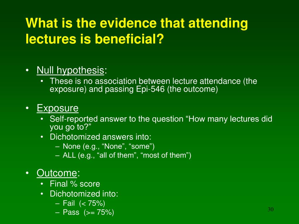 What is the evidence that attending lectures is beneficial?