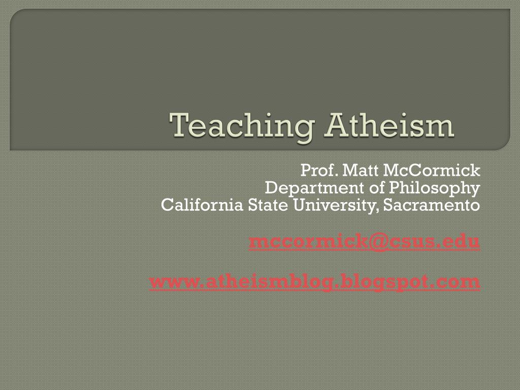 teaching atheism l.