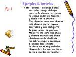 ejemplos literarias