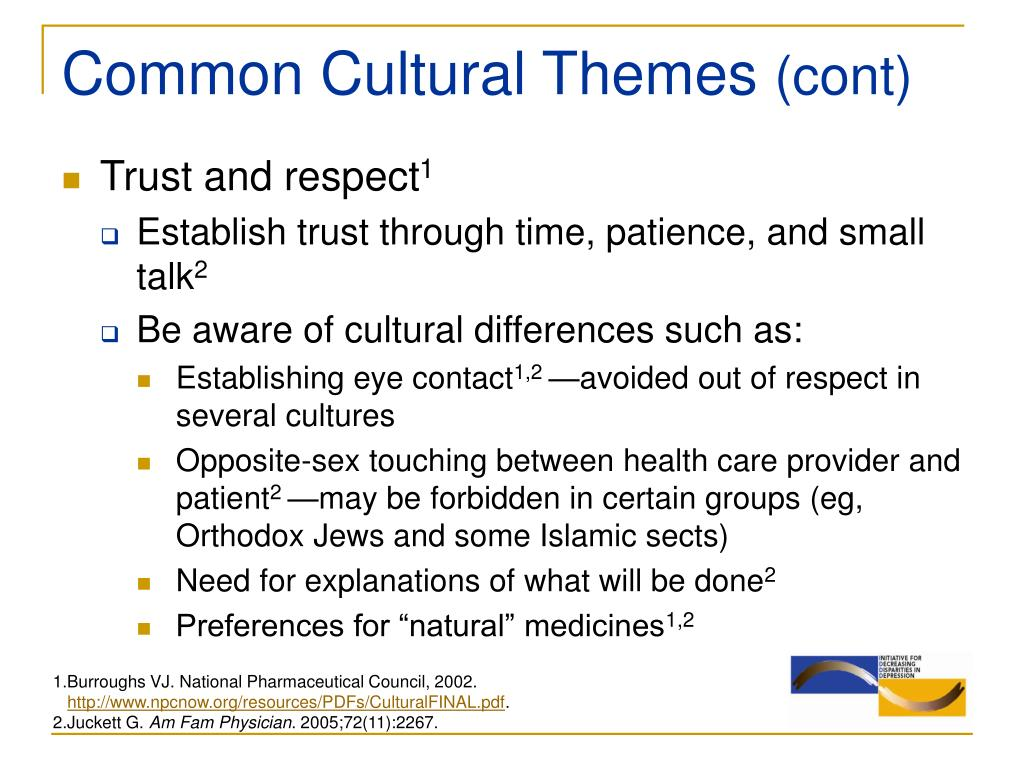 Common Cultural Themes