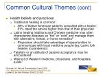 common cultural themes cont14