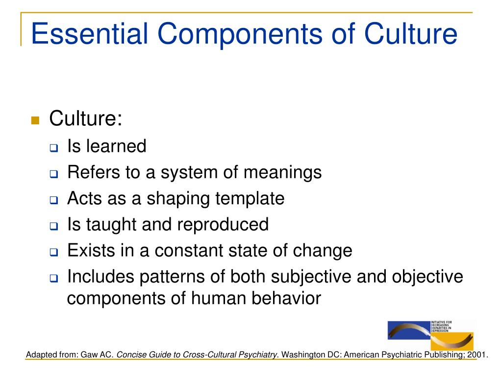 Essential Components of Culture