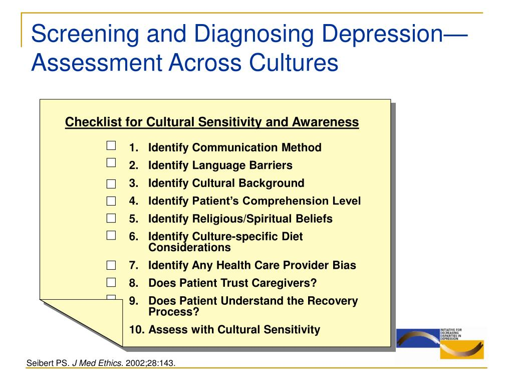 Screening and Diagnosing Depression—Assessment Across Cultures
