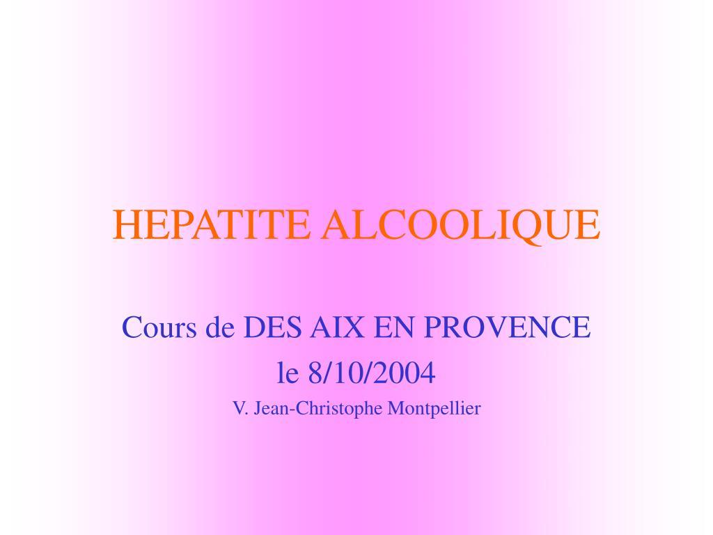hepatite alcoolique l.