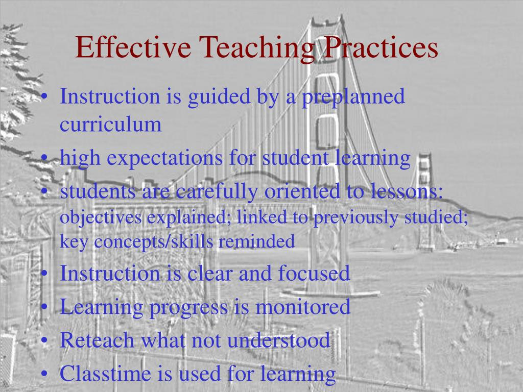 Effective Teaching Practices