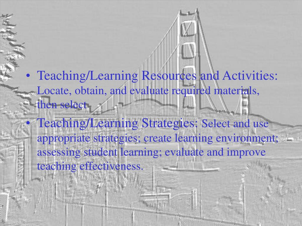 Teaching/Learning Resources and Activities: