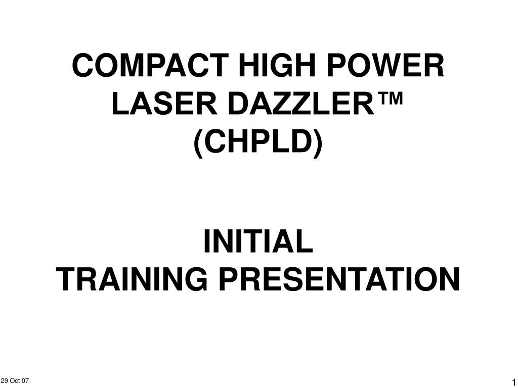 compact high power laser dazzler chpld l.
