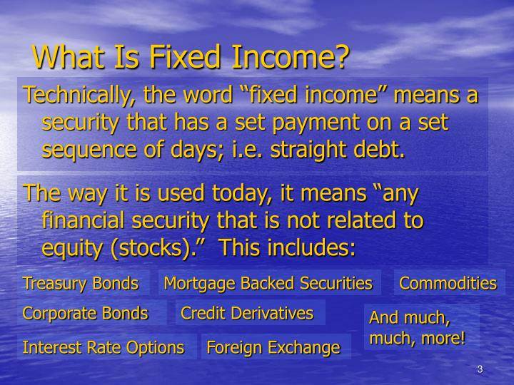 What is fixed income