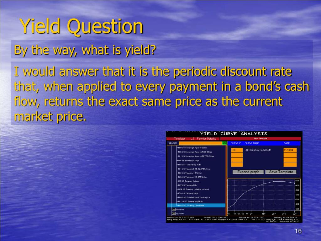 Yield Question