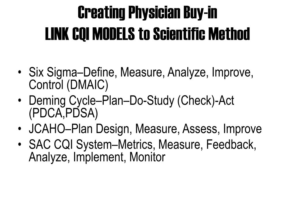 Creating Physician Buy-in