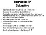 opportunities for stakeholders