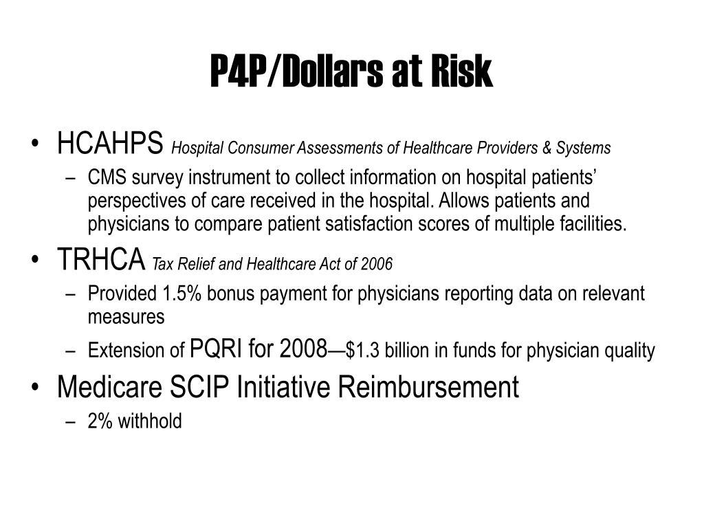 P4P/Dollars at Risk