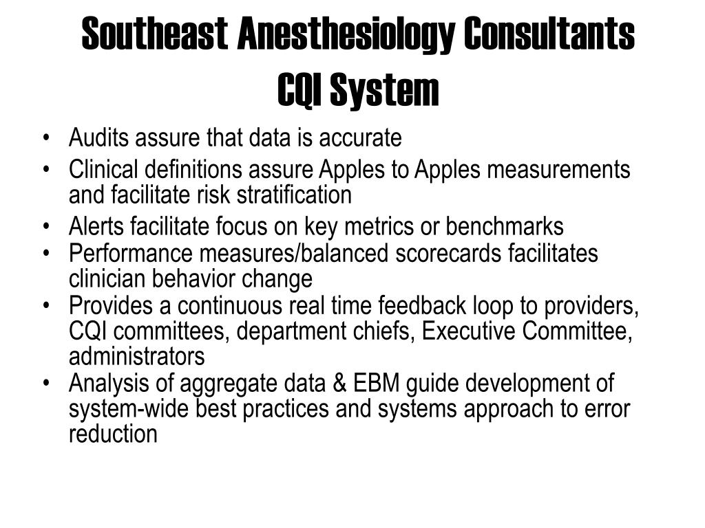 Southeast Anesthesiology Consultants