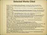 selected works cited