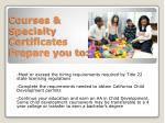 courses specialty certificates prepare you to