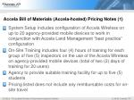 accela bill of materials accela hosted pricing notes 1