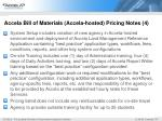 accela bill of materials accela hosted pricing notes 4